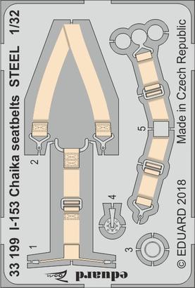 I-153 Chaika seatbelts STEEL 1/32