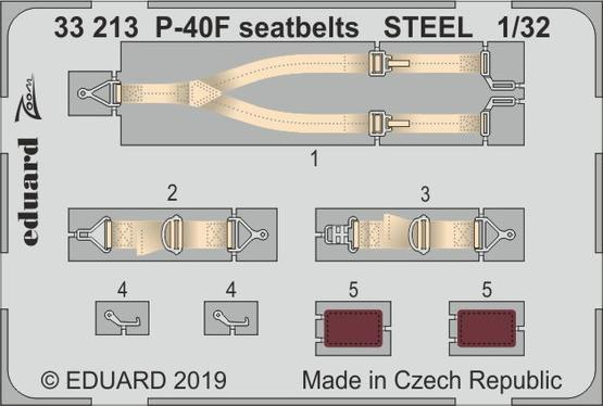 P-40F seatbelts STEEL 1/32