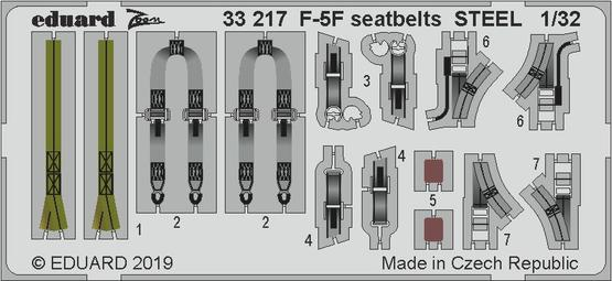 F-5F seatbelts STEEL 1/32