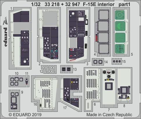 F-15E интерьер 1/32  - 1