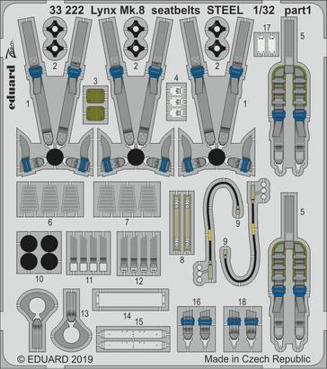 Lynx Mk.8 seatbelts STEEL 1/32  - 1