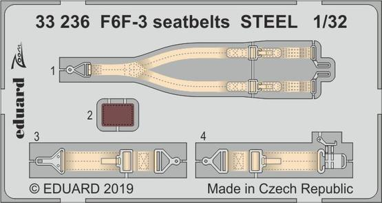 F6F-3 seatbelts STEEL 1/32