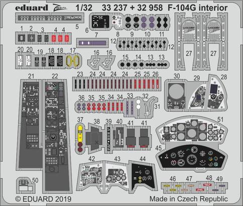 F-104G interiér 1/32  - 1