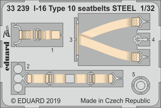 I-16 Type 10 seatbelts STEEL 1/32