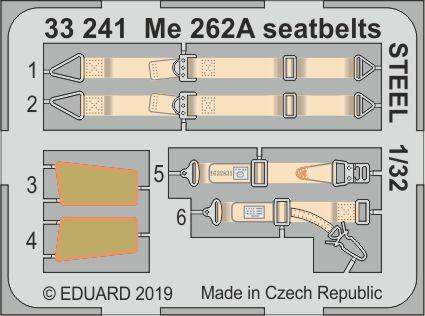 Me 262A seatbelts STEEL 1/32