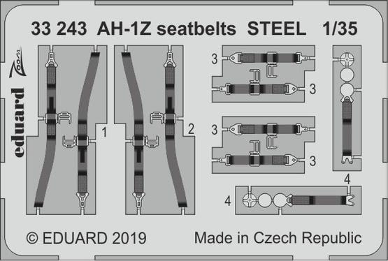 AH-1Z seatbelts STEEL 1/35