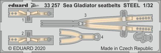Sea Gladiator seatbelts STEEL 1/32