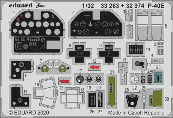 P-40E interior 1/32  - 1