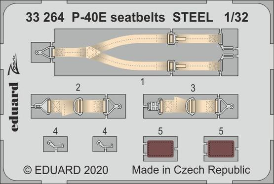 P-40E seatbelts STEEL 1/32