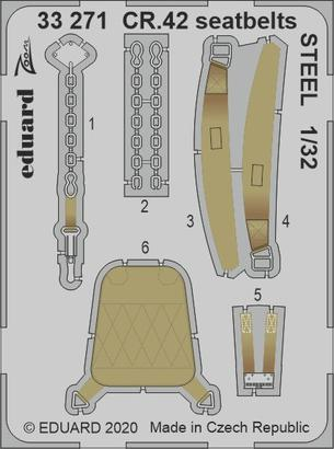 CR.42 seatbelts STEEL 1/32