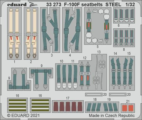 F-100F seatbelts STEEL 1/32