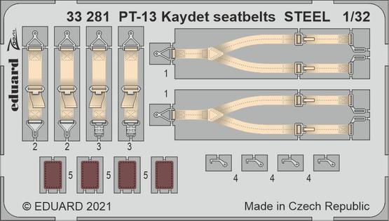 PT-13 Kaydet seatbelts STEEL 1/32
