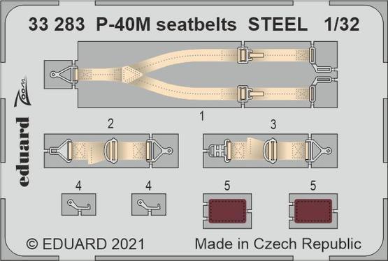 P-40M seatbelts STEEL 1/32
