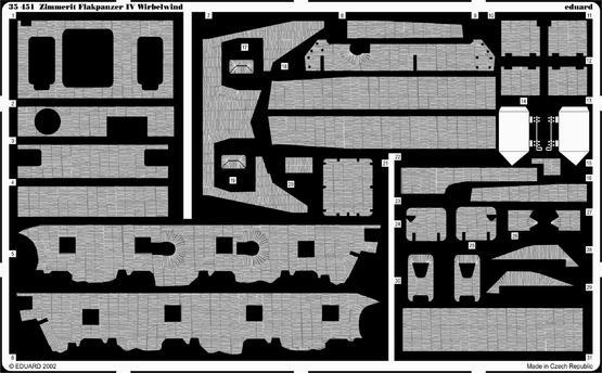 Zimmerit Flakpanzer IV Wirbelwind 1/35