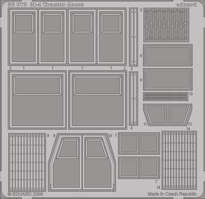 M-4 Tractor doors 1/35