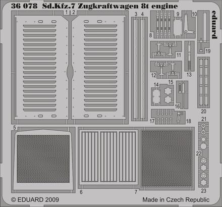 Sd.Kfz.7 Zugkraftwagen 8t engine 1/35