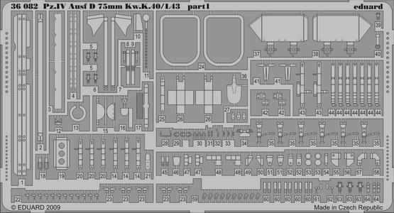 Pz.IV Ausf.D Kw.K.40/L43 75mm 1/35  - 1
