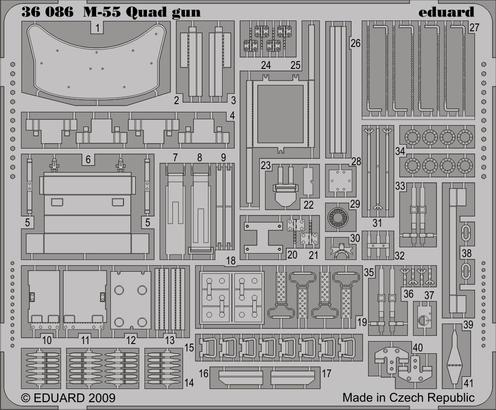 M-55 Quad gun 1/35