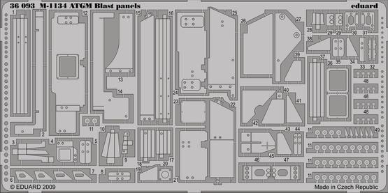 M-1134 ATGM blast panels 1/35
