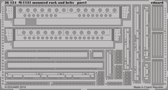 M-1131 mounted rack and belts 1/35  - 1