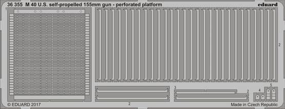 M 40 США самоходное 155 мм орудие - перфорированная платформа 1/35