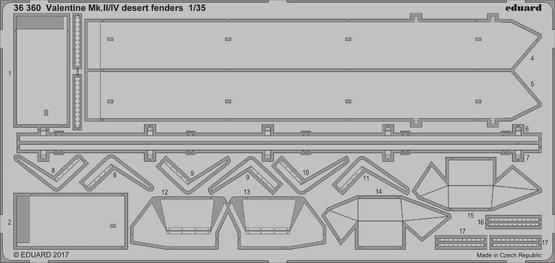 Valentine Mk.II/IV desert fenders 1/35