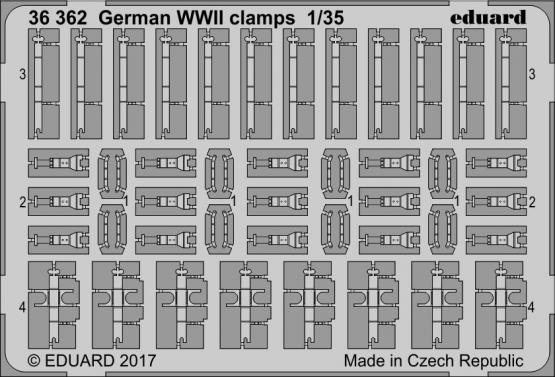 German WWII clamps 1/35