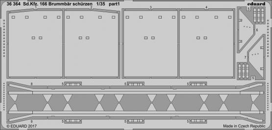 Sd.Kfz. 166 Brummbär schürzen 1/35  - 1