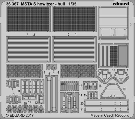 MSTA S howitzer - hull 1/35