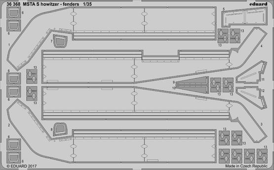 MSTA S howitzer - blatníky 1/35