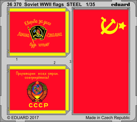 Soviet WWII flags STEEL 1/35