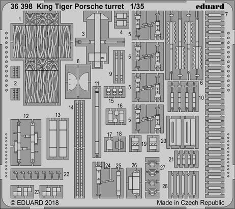 King Tiger башня Porsche 1/35