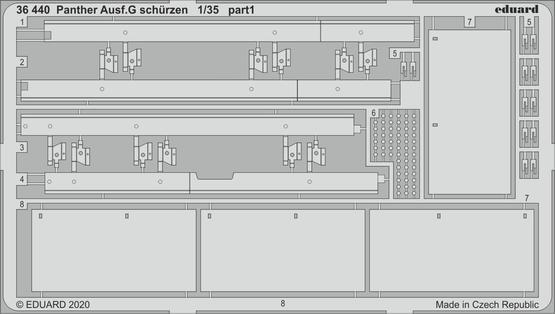 Panther Ausf. G schürzen 1/35  - 1