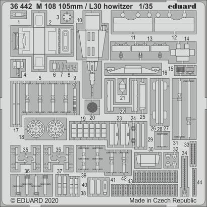 M 108 105mm / L30 howitzer 1/35