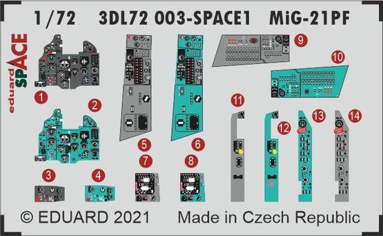 MiG-21PF SPACE 1/72  - 1