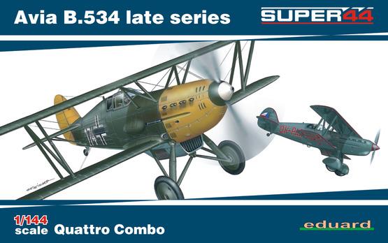 Avia B.534 pozdní série Quattro Combo 1/144