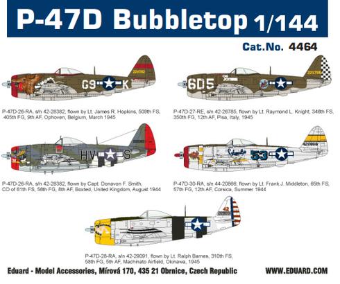 P-47D Bubbletop 1/144