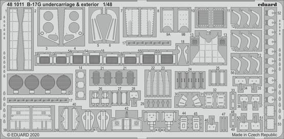 B-17G undercarriage & exterior 1/48
