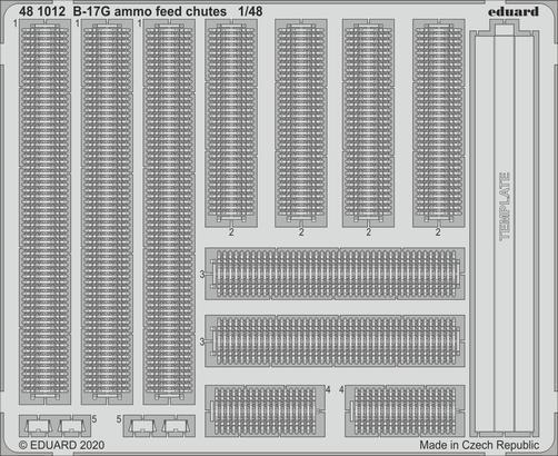 B-17G  弾薬フィードシュート 1/48