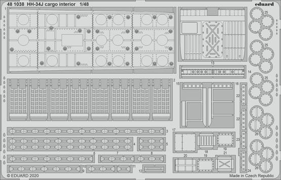 HH-34J cargo interior 1/48