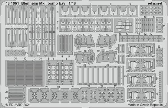Blenheim Mk.I bomb bay 1/48
