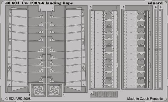 Fw 190A-6 landing flaps 1/48