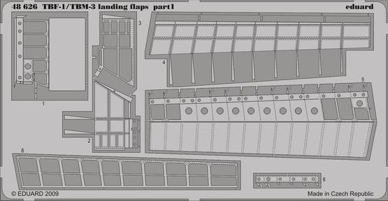 TBM-1/TBF-3 landing flaps 1/48  - 1