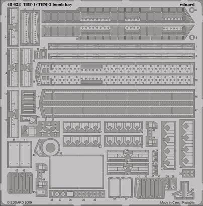 TBF-1/TBM-3 bomb bay 1/48
