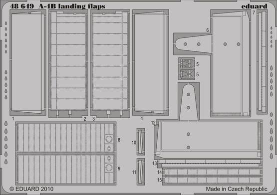 A-4B landing flaps 1/48