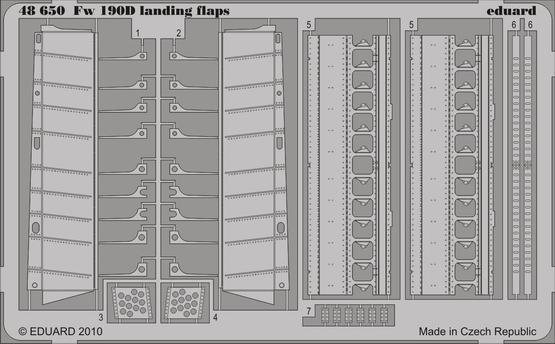 Fw 190D landing flaps 1/48