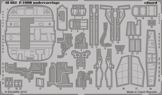 F-100D undercarriage 1/48