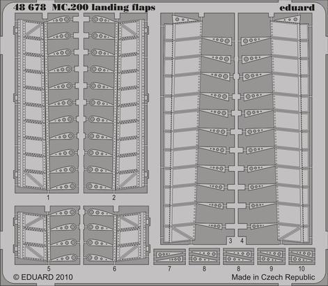 MC.200 landing flaps 1/48