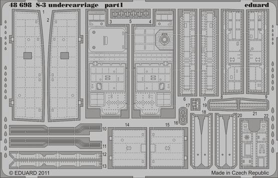S-3 undercarriage 1/48  - 1