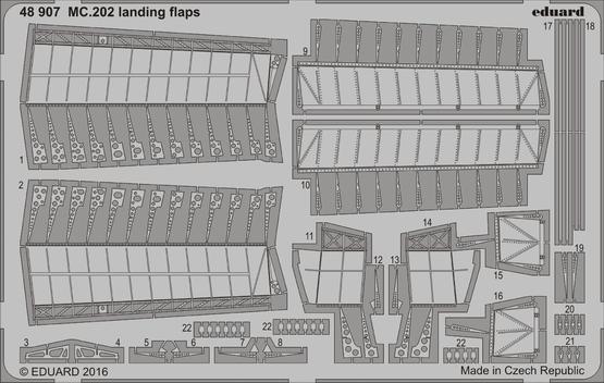 MC.202 landing flaps 1/48  - 1